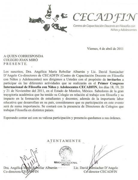 El Colegio Joan Miro, seleccionado como exponente para el Congreso Internacional de Filosofía para Niños y Adolescentes, en México.
