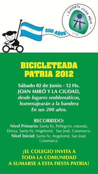 Todo listo para la tradicional bicicleteada