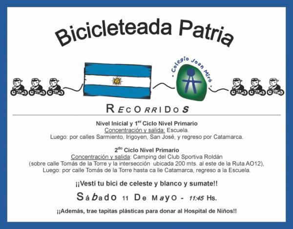 Todo listo para la tradicional bicicleteada patria